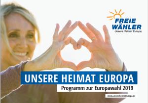 unser Wahlprogramm zur Europawahl 2019 als PDF